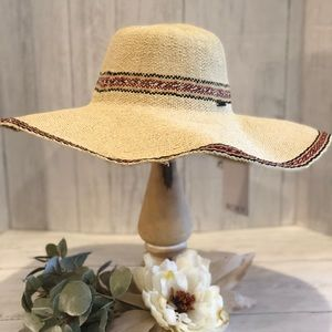 NWT Roxy Wide Brim Beach Hat Size S/M